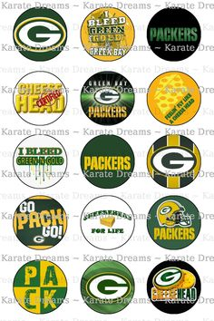 Green Bay Packers themed Bottle Cap Images by KarateDreams Packers Baby, Go Packers, Packers Football, Football Team, Greenbay Packers, Football Baby, Football Season, College Football, Bottle Cap Images
