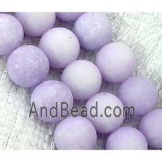 round matte jade beads, lavender dia, per st Jade Beads, Saints, Lavender