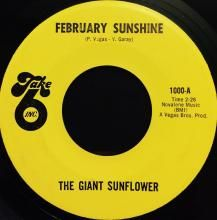 FEBRUARY SUNSHINE / MORE SUNSHINE   GIANT SUNFLOWER   7 inch single   $60.00 AUD   music4collectors.com