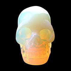 20inch Natural Carved Skull Crystal Reiki Healing Stone Statue Collectible Figurine Opalite ** You can get more details by clicking on the image.