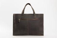 Image of Handmade Genuine Cowhide Leather Laptop Briefcase Mens Handbag ZB02