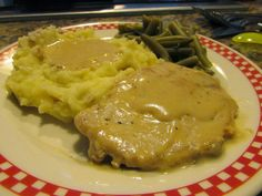 Cooking with Carlee: Pork Chops and Mushroom Soup Gravy - Made by MiMi
