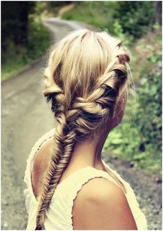 twisted fishtail braid.