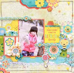 Take Some Time to Daydream by Tomoko Takahashi featuring Hello Sunshine by Bo Bunny - Scrapbook.com