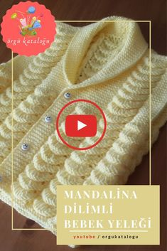Let's learn together your own fashion accessories, basic and other creative points, techniques and tips to learn or develop the art of crochet and kni. Crochet Girls Dress Pattern, Baby Cardigan Knitting Pattern Free, Baby Dress Patterns, Baby Knitting Patterns, Knitting Videos, Crochet Videos, Hand Knitted Sweaters, Baby Sweaters, Butterfly Quilt Pattern
