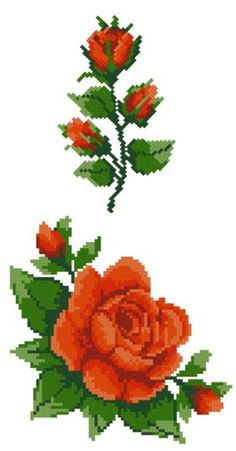 Advanced Embroidery Designs - Red Roses Set