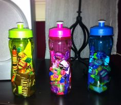 water bottle -pens -chocolate bars -gum -nail polish -fruit snacks -or whatever you desire!