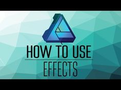 Do Effects Really Help in Affinity Designer? Design Tutorials, Art Tutorials, Crea Design, Inkscape Tutorials, Affinity Photo, Graphic Art, Graphic Design, Photo Processing, Affinity Designer