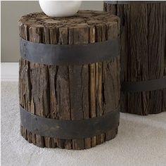 reclaimed wood stool