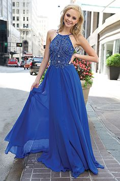 Beaded Adorned Chiffon Gown 92605