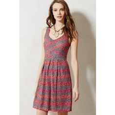 Anthropologie Cabernet Dress by HD in Paris Grey Motif 16 's