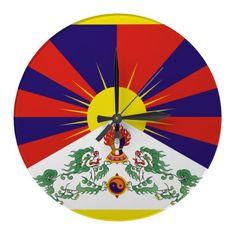 Flag of Tibet wall clock