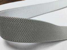 Gray Elastic, 1 inch elastic by NoaElastics on Etsy