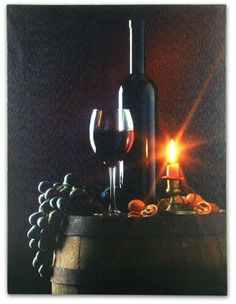 Wall Art with LED Lights Canvas Print Lighted Candle and Wine Glass Picture - Wine and Candlelight by Banberry Designs, http://www.amazon.com/dp/B005Y26XZK/ref=cm_sw_r_pi_dp_.h7Isb15Y0T1K