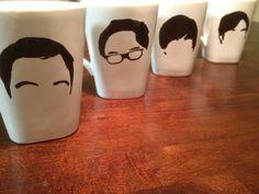 Big Bang Theory Inspired 4 Piece Coffee Mug Set. $45.00, via Etsy.