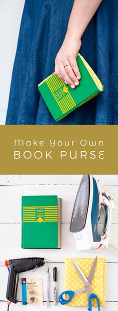Turn an old book into a new purse