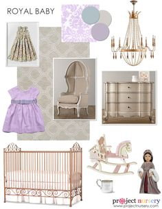 Royal Baby Nursery Design Board