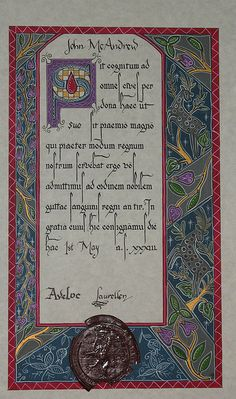 SCA scroll by lionsgater, via Flickr