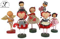 Lori Mitchell Valentine's Day Folk art figures, so cute!