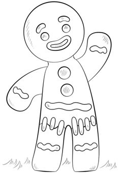 Christmas Mr Gingerbread Men On Christmas Custom Coloring Page Mr