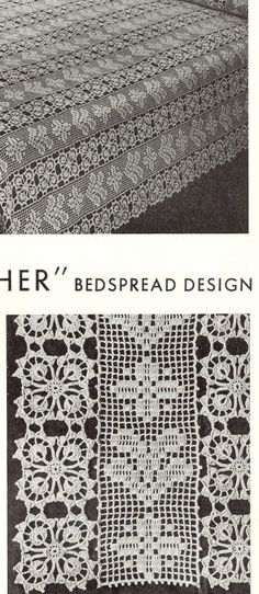 Purchase Crocheted Bedspreads Book 900 from Skerin Knitting and Crochet. Crochet Art, Crochet Home, Crochet Motif, Crochet Doilies, Vintage Crochet Patterns, Easy Crochet Patterns, Crochet Designs, Crochet Bedspread, Crochet Curtains