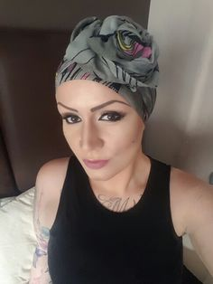Love this head scarf. Sometimes it is nice to have a day off from wigs and style my head scarf in my own crazy way! Alopecia times