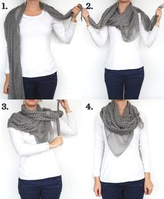 12. The #Muffler - Scarf It up: 17 #Fashionable Ways to Wear a Scarf This #Winter ... → #Fashion #Great