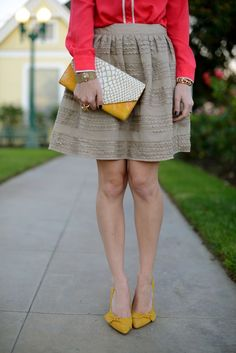 a little mustard for fall {falling for color}