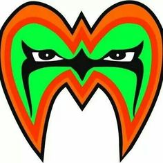 The Ultimate Warrior's face paint...R.I.P.