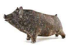 Ceramic Animals, Clay Animals, Ceramic Art, Animals And Pets, Concrete Sculpture, Horse Sculpture, Sculpture Clay, Ceramic Workshop, Pig Art