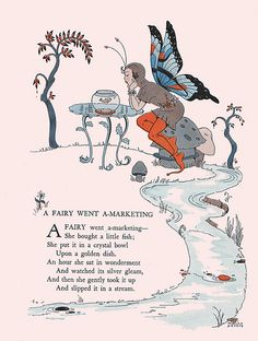"A Fairy went-amarketing-- | Illustrated by Marjorie Peters. … | Flickr A Fairy went-amarketing--  Illustrated by Marjorie Peters.   ""Childcraft, Volume One. Poems of Early Childhood."" Published by the Quarrie Corp in Chicago. Copyright 1923, 1931, 1934, 1935, 1937, and 1939. Edited by S. Edgar Farquhar and Patty Smith Hill. Art editor Milo Winter. 38 artists listed in addition to the work of Milo Winter."