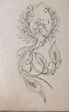 Result for images for Feminine Phoenix Tattoo Designs diy tattoo images - tattoo images drawings - t Tattoo Drawings, Body Art Tattoos, Small Tattoos, Sleeve Tattoos, Tattoos Skull, Phoenix Tattoo Feminine, Phoenix Tattoo Design, Tattoo Phoenix, Feminine Back Tattoos