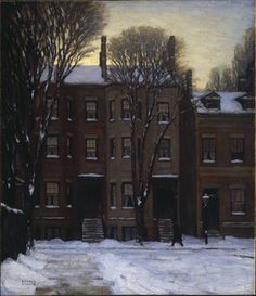 Lawren Harris Red House, Winter oil on canvas 88 x 103 cm 1925 Lawren Harris The Corner Store 1912 Lawren Harris Little . Group Of Seven Artists, Group Of Seven Paintings, Tom Thomson, Emily Carr, Canadian Painters, Canadian Artists, Ontario Art Gallery, Order Of Canada, Painting Snow