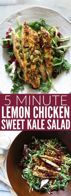 Factors You Need To Give Thought To When Selecting A Saucepan This Grilled Lemon Chicken Sweet Kale Salad Is The Perfect Easy Weeknight Meal Throw It Together When You're In A Pinch, And You Have A Flavorful, Delicious, Gluten Free Dinner Summer Salad Recipes, Salad Dressing Recipes, Easy Salads, Healthy Salad Recipes, Whole30 Recipes, Sweet Kale Salad, Grilled Lemon Chicken, Healthy Chicken, Easy Weeknight Meals