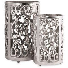 Imax Balin Candle Lanterns - Set of 2 ($74) ❤ liked on Polyvore featuring home, home decor, candles & candleholders, no color and twin pack