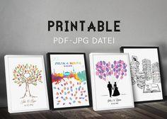 Hochzeitsgästebuch - Printable, JPG / PDF, Gästebuch, Hochzeit,  - ein Designerstück von Paper-Arts bei DaWanda