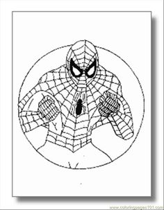 free printable coloring page Spiderman Superhero