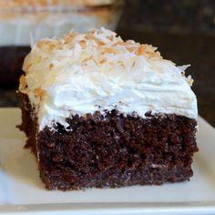 Chocolate Cream of Coconut Cake