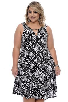 Vestido Plus Size Hebe Big Size Dress, Plus Size Dresses, Plus Size Outfits, Plus Size Summer Fashion, Curvy Fashion, Plus Fashion, Plus Size Fashionista, Stylish Plus Size Clothing, Looks Plus Size