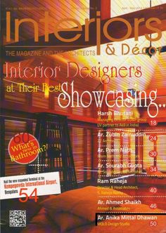 Interiors & Decor India Magazine's mission is to bring its readers the latest news in the Architecture & Interiors Decor space and provide an in-depth analysis of happenings and emerging trends important to the sector. The Magazine presents the latest news, views, and happenings in India and across the globe. In the age of information technology and the Internet, company executives are bombarded with a load of info that is too much in volume with very little time to absorb the essentials.