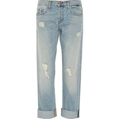 J Brand Sonny distressed mid-rise boyfriend jeans (€145) ❤ liked on Polyvore featuring jeans, light denim, distressed jeans, faded blue jeans, mid rise boyfriend jeans, ripped boyfriend jeans and loose fit boyfriend jeans
