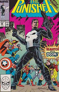 The Punisher (Acts Of Vengeance) - 1990 on auction. Comic Books For Sale, Vintage Comic Books, Vintage Comics, Hq Marvel, Marvel Comic Universe, Marvel Heroes, Punisher Comic Book, Punisher Comics, Dc Comics