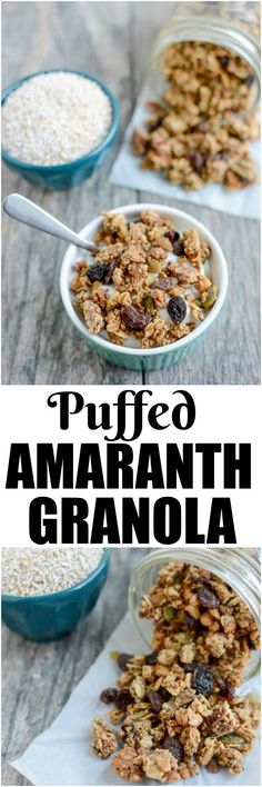 (AD) This Puffed Amaranth Granola recipe is lightly sweetened, packed with protein and perfect for a healthy, gluten-free breakfast or snack! @nutsdotcom