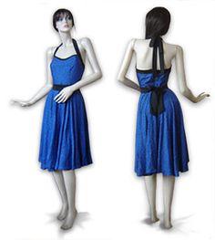 Rockabilly Pin Up Kleid, neckholder nähen, S-XXL, Petticoat Kleid, angelehnt an die 50er Jahre, oder ohne Petticoat als normales Sommerkleid tragbar