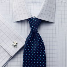 Sky textured check slim fit shirt | Slim fit dress shirts from Charles Tyrwhitt | CTShirts.com
