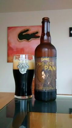 Project PAM by Founders.  Black IPA aged in maple bourbon barrels.  #ProjectPAMBlackIPA #FoundersProjectPAM #BlackIPA #BourbonBarrelAgedBlackIPA #MapleBourbonBarrelAged #CraftBeer #Beer