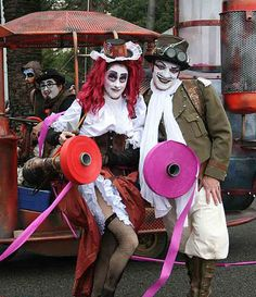 Our professional street theatre group in Nice offers an incredibly unique themed parade! Theatre Group, Baby Strollers, Acting, Carnival, Steampunk, Party Ideas, Entertaining, Street, Nice