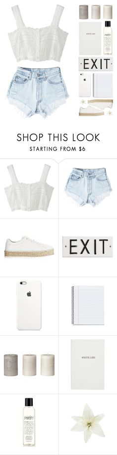 """rtd ; thank you so much for 4k!"" by happinesspeaceandlove ❤ liked on Polyvore featuring Levi's, rag & bone, Rosanna, Sloane Stationery, philosophy, Clips and polyvoreeditorial"
