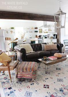 Eclectic & Rustic Living Room