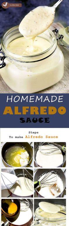homemade-alfredo-sauce Recipes With Enchilada Sauce, Sauce Recipes, Beef Recipes, Pasta Recipes, Homemade Alfredo, Homemade Pasta, Make Alfredo Sauce, Easy Bbq Sauce, Roasted Garlic Hummus